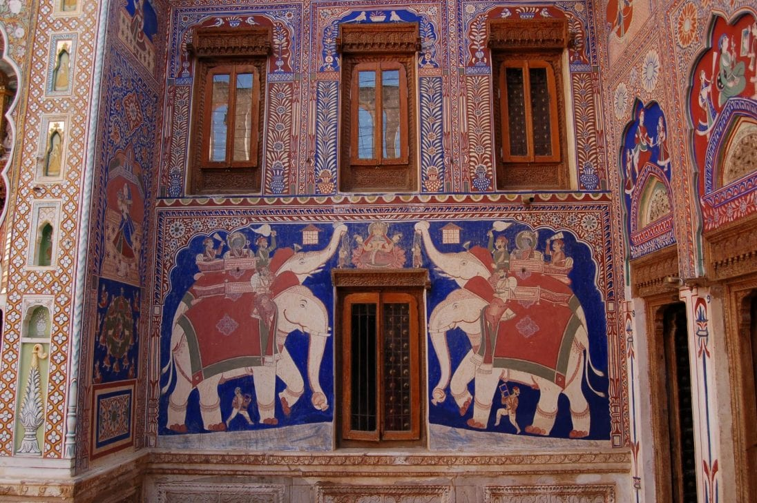 que ver en Rajastán: Shekhawati, haveli de Fatehpur