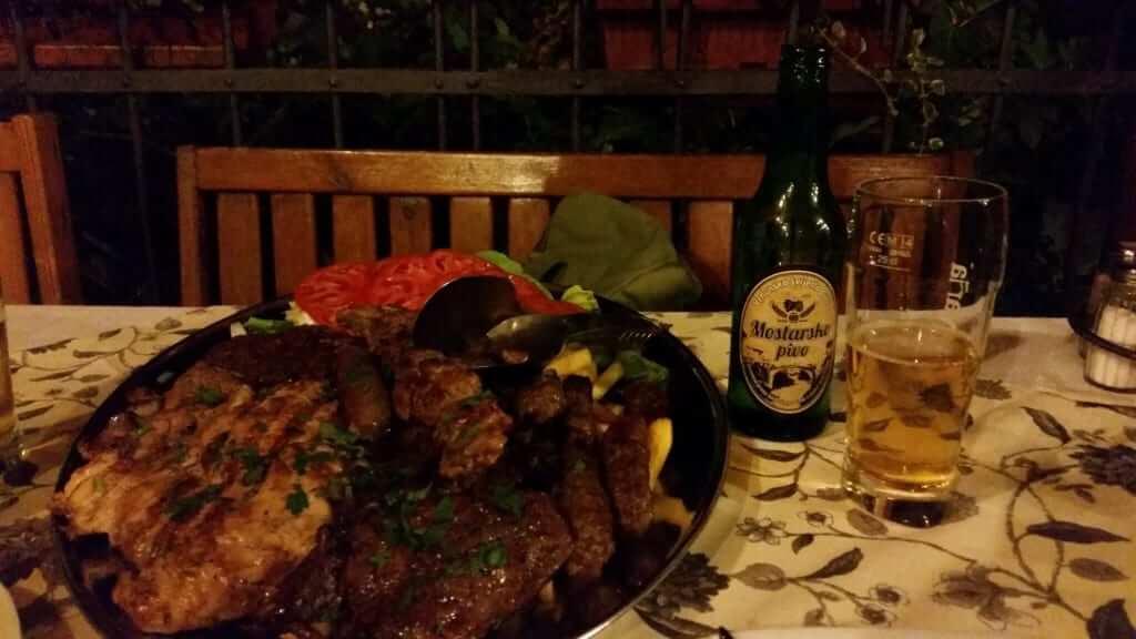 Guía de Mostar Cena típica
