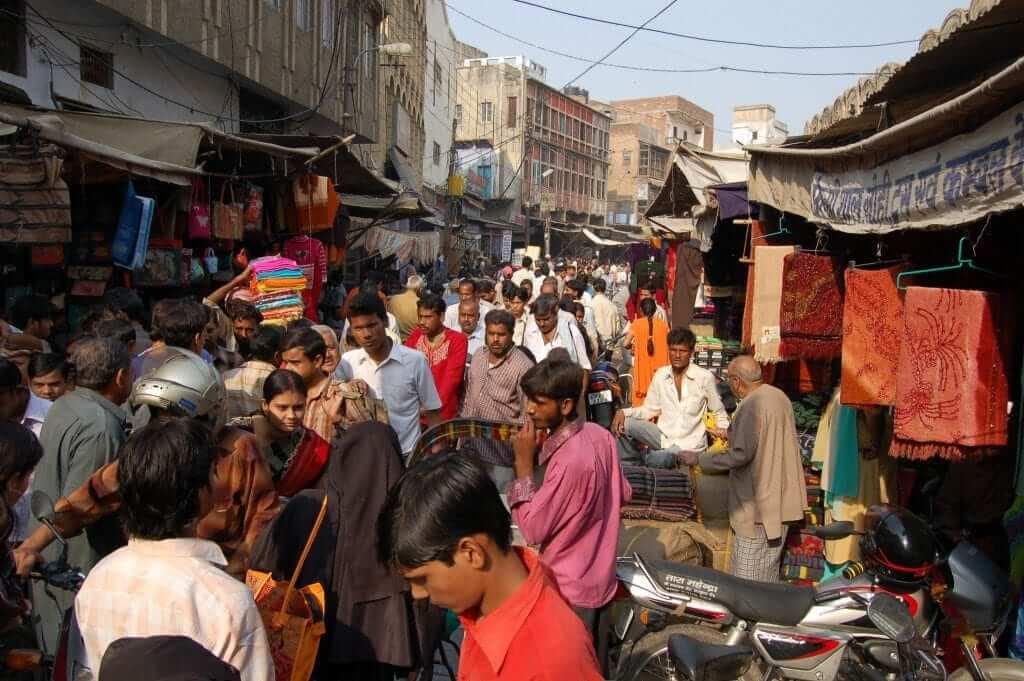 Agra Barrio musulmán de Agra