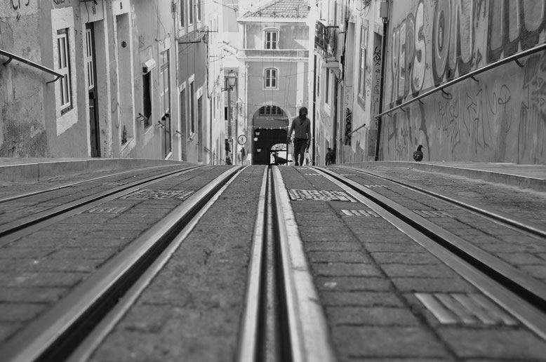 Fotos en blanco y  negro Lisboa