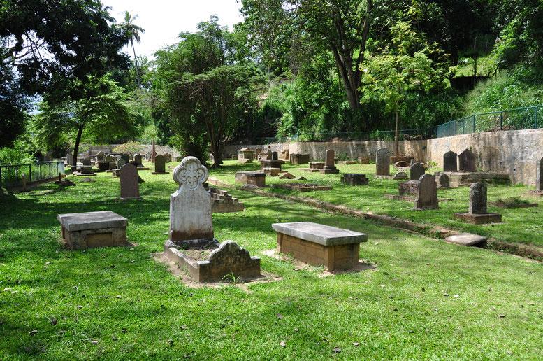 Cementerio en Kandy, Sri Lanka