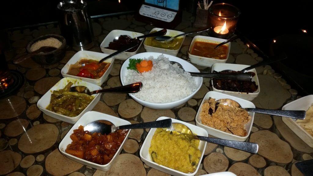 Comer en Sri Lanka Rice Curry