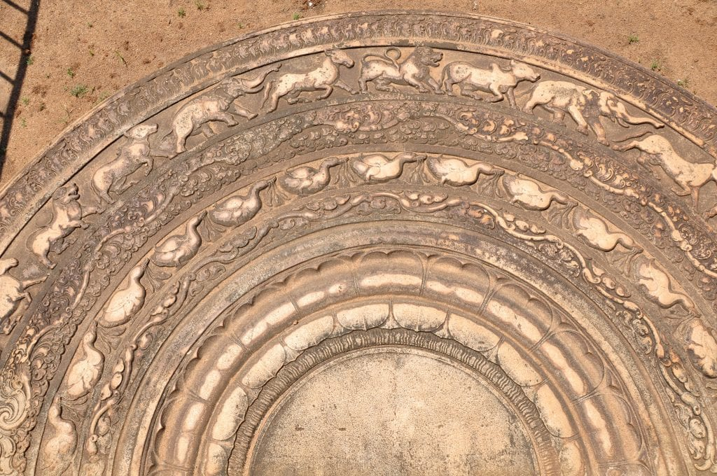 Anuradhapura piedra de Luna