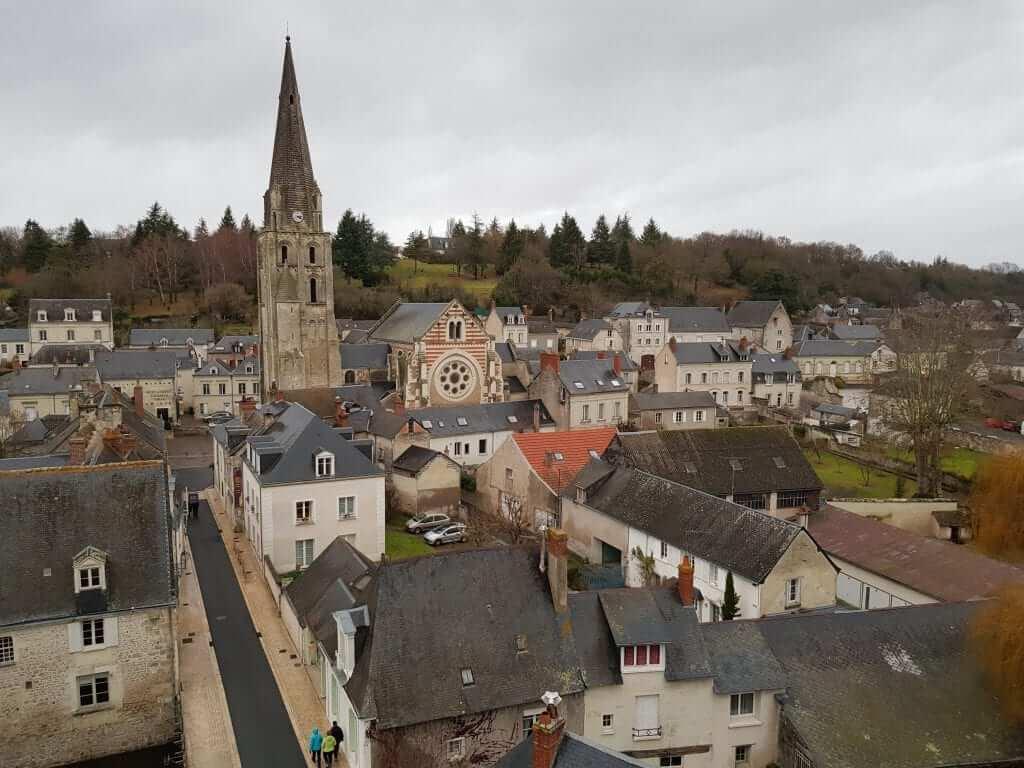 ruta por los castillos del Loira vista desde el castillo de Langeais