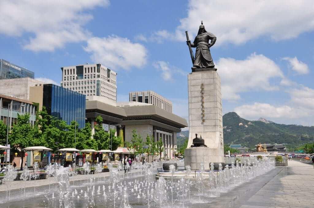 que ver en seúl Plaza Gwanghwamun