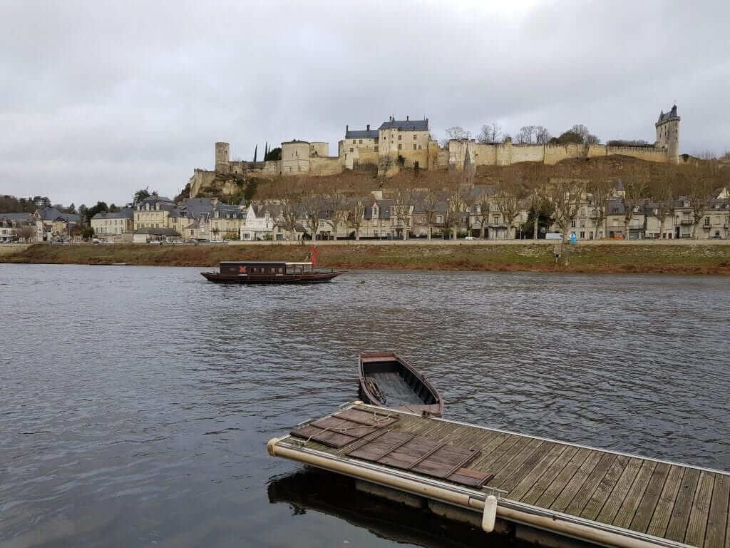 ruta por los castillos del Loira fortaleza de Chinon