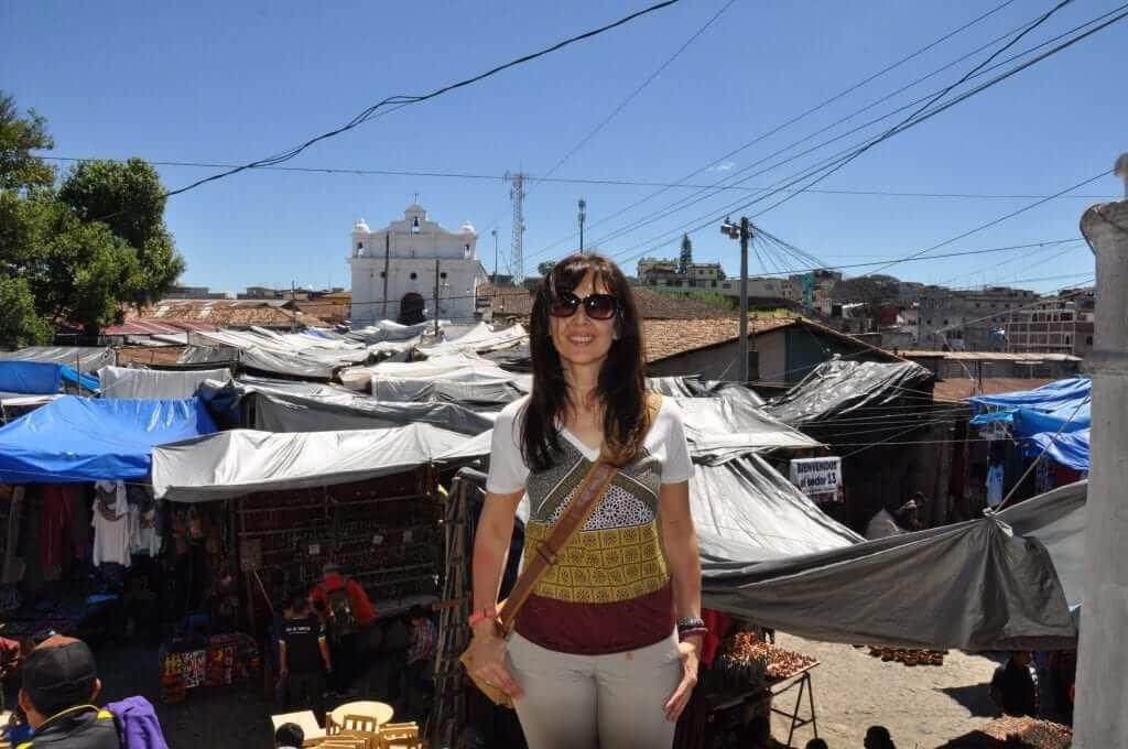 Chichicastenango mercado e iglesia de Santo Tomás