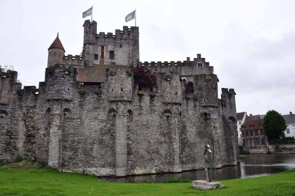 Castillo de los Condes de Flandes, Gante, Bélgica