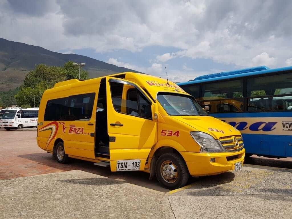 Transporte Villa de Leyva, Colombia