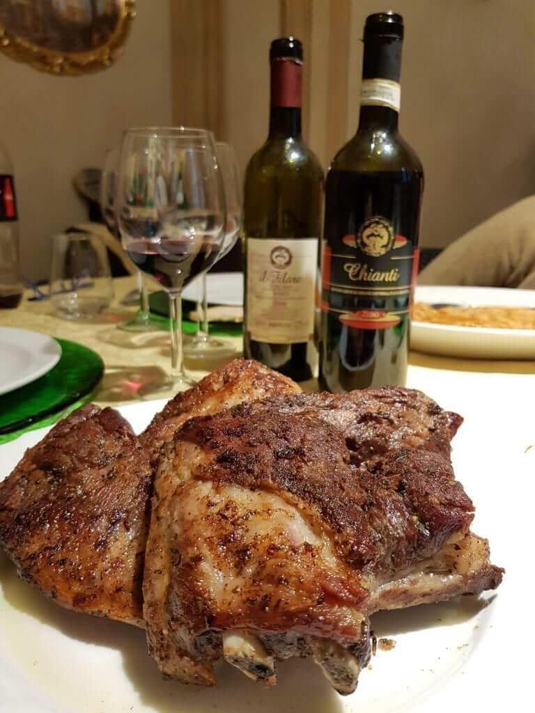 comer en Valdera, Toscana