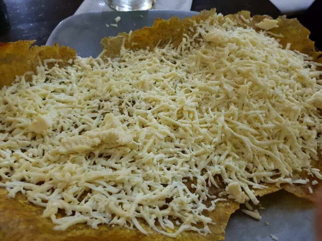 patacón con queso, Colombia