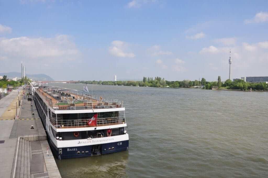 Barcos por el Danubio, viena