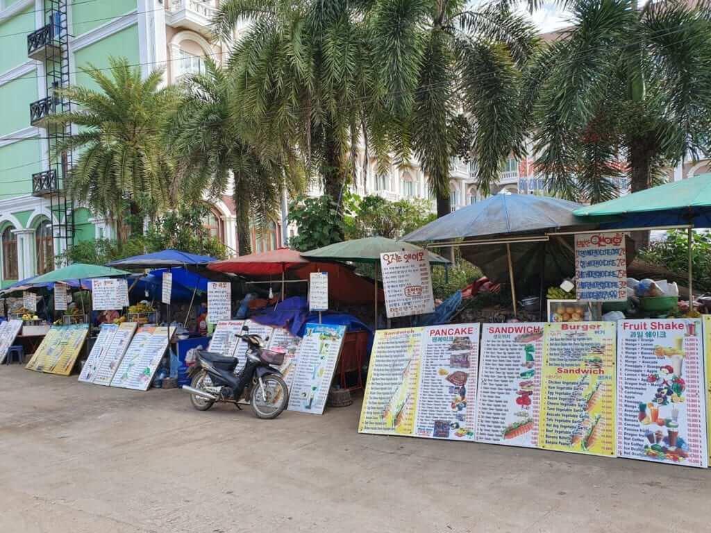 comer en Vang Vieng