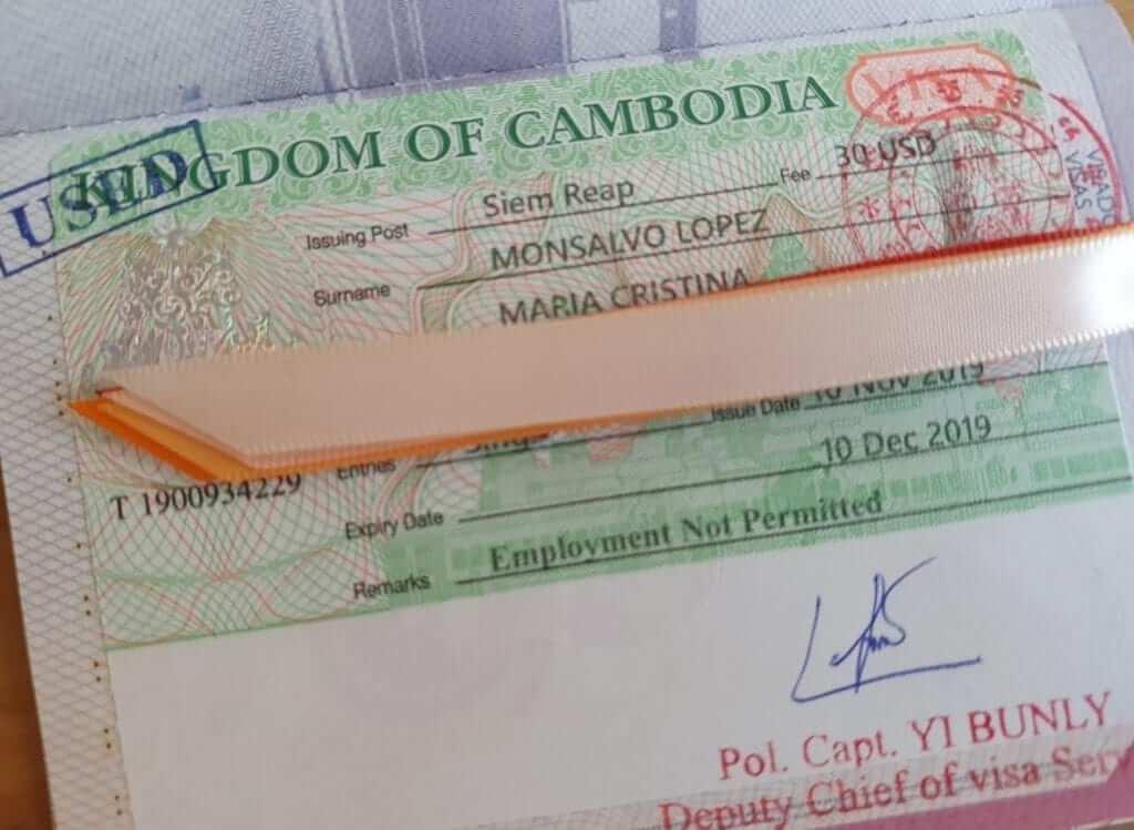 visado camboya