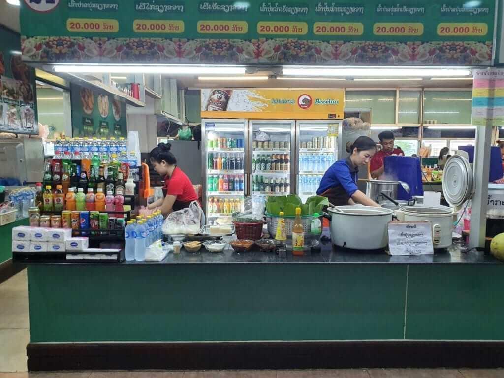 comer en Vientiane